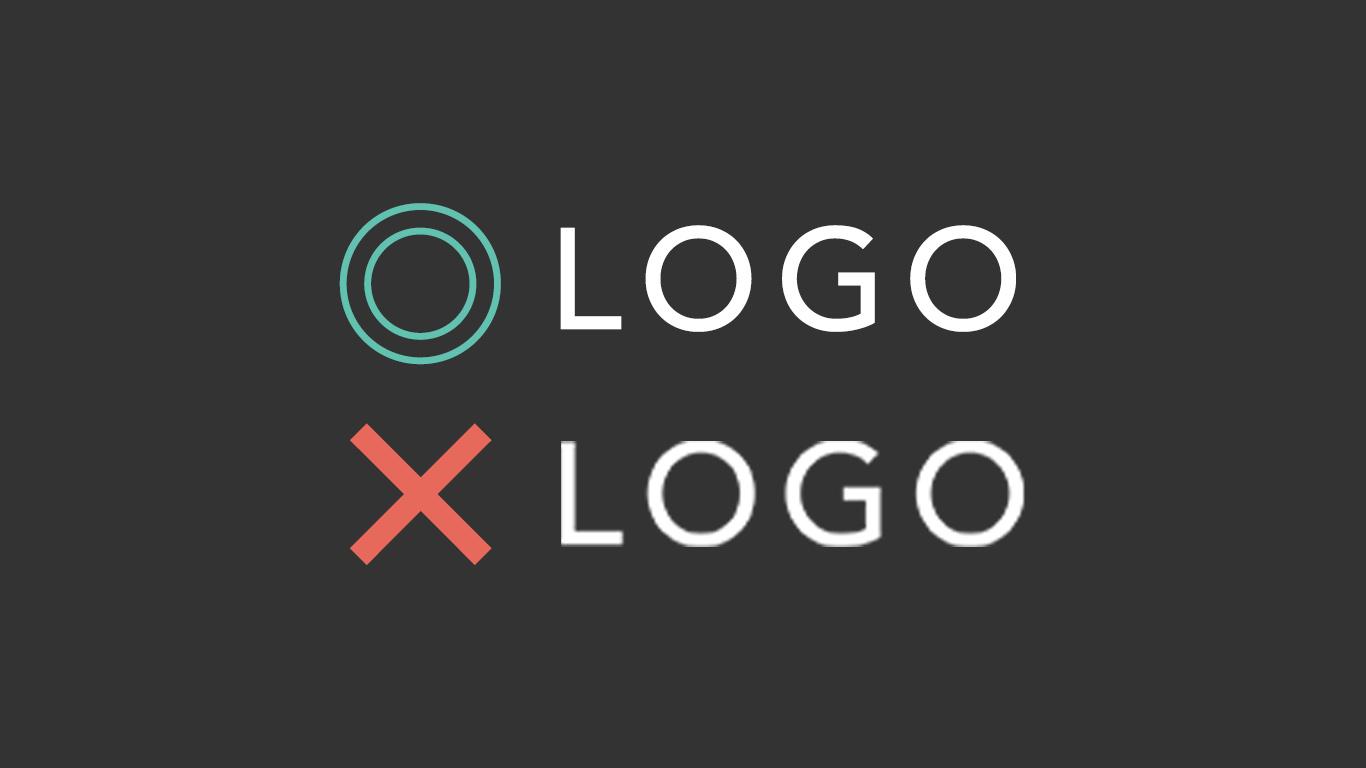 レティナディスプレイのロゴ画像比較